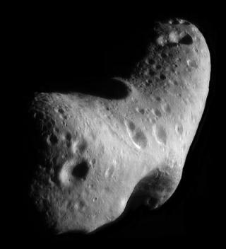 Eros is one of the largest near-Earth asteroids.